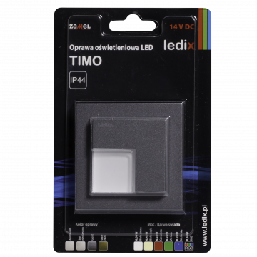 TIMO LED lamp flush mounted 14V DC graphite warm white with frame TYPE: 07-211-32